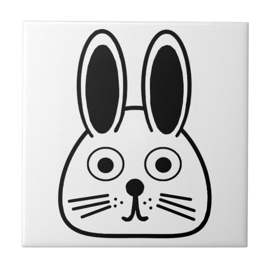 bunny face tile