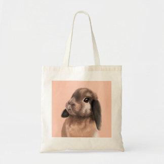 Bunny farrowed tote bag