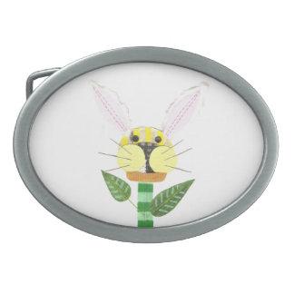 Bunny Flower Buckle Oval Belt Buckle
