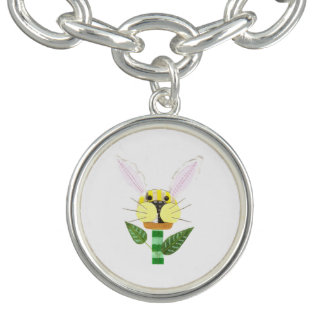 Bunny Flower Charm Bracelet