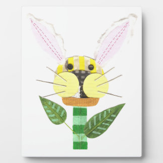 Bunny Flower Easel Plaque