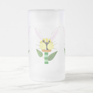 Bunny Flower Frosted Jug Frosted Glass Beer Mug