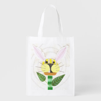 Bunny Flower Reusable Bag