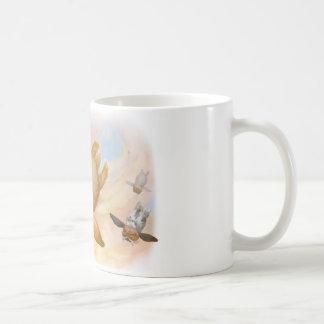 Bunny fly fly fly coffee mugs