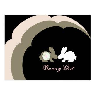 Bunny Girl Baby Shower Invitation Postcards