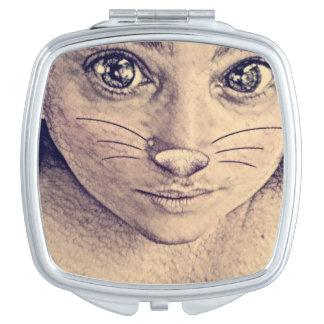 Bunny girl compact mirror