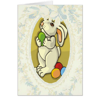 Bunny Grateful For The Pretty Eggs Card Greeting Card