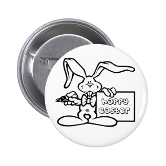 bunny happy easter pin