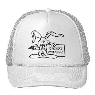 bunny happy easter hat
