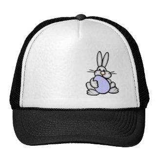 Bunny holding Lavender Blue Egg Hat