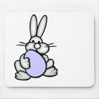 Bunny holding Lavender Blue Egg Mousepads