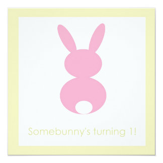 Bunny Hop Birthday or Baby Shower Invitation