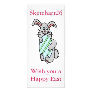 Bunny Hugging An Egg Customized Rack Card