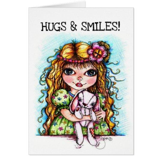 Bunny Hugs and Smiles Greeting Card