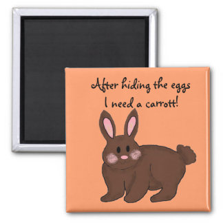 Bunny Humour Square Magnet