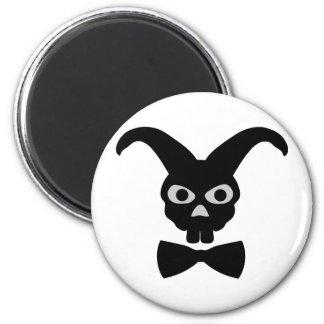 bunny icon 6 cm round magnet