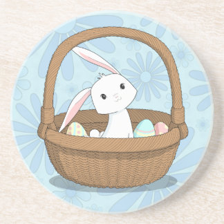 Bunny in a Basket Easter Coaster