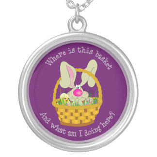 Bunny in a Basket Easter Necklace