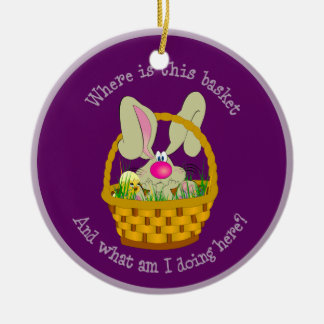 Bunny in a Basket Easter Ornament