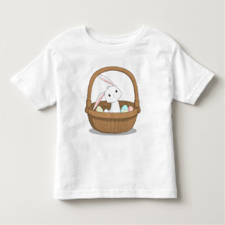Bunny in a Basket Easter Shirt for Toddlers