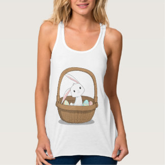 Bunny in a Basket Easter Tank Top