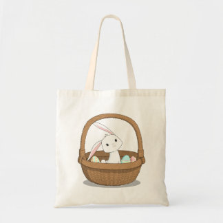 Bunny in a Basket Easter Tote Budget Tote Bag