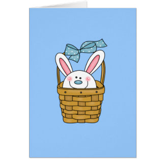 Bunny in Basket Blue T-shirts and Gifts Card