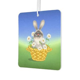 Bunny In Basket Car Air Freshener