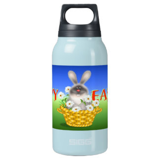 Bunny In Basket Insulated Water Bottle