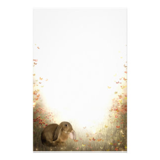 Bunny in foliage stationery