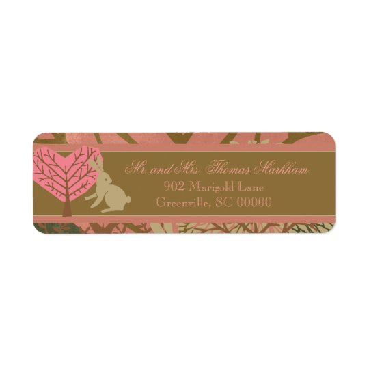 Bunny in Magic Forest Custom Address Labels