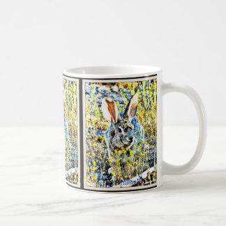 Bunny in Spring Flowers Coffee Mug