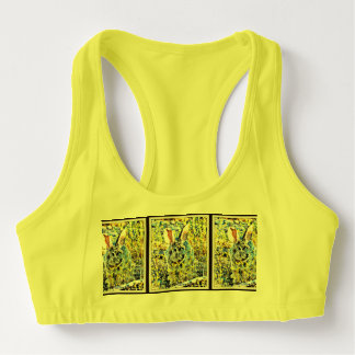 Bunny in Spring Flowers Women's All Sports Bra