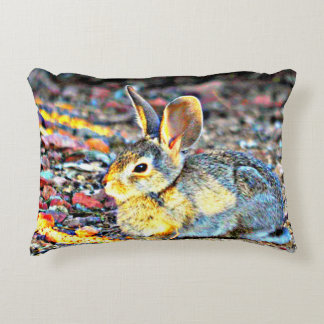 """Bunny In Sunlight"" Brushed Accent Pillow"