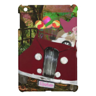 Bunny is carrying Easter eggs. iPad Mini Cases