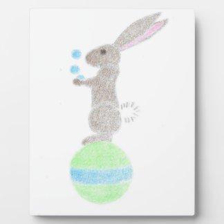 Bunny Juggler Plaque