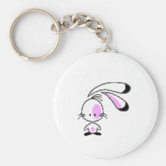 bunny basic round button key ring