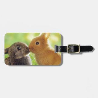 Bunny Kiss Luggage Tag
