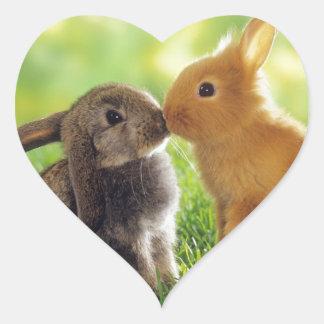 Bunny Kiss Heart Sticker