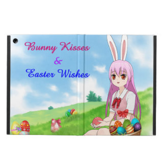 Bunny Kisses & Easter Wishes (Customizable) iPad Air Cover