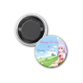 Bunny Kisses & Easter Wishes (Customizable) Magnet