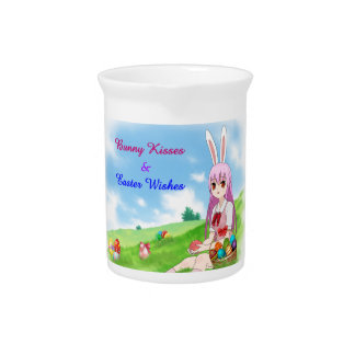Bunny Kisses & Easter Wishes (Customizable) Pitcher