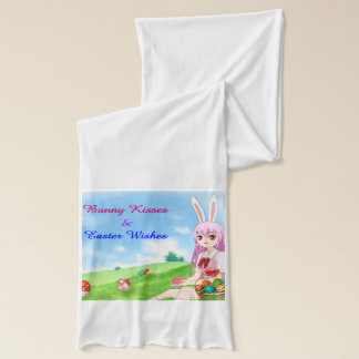 Bunny Kisses & Easter Wishes (Customizable) Scarf