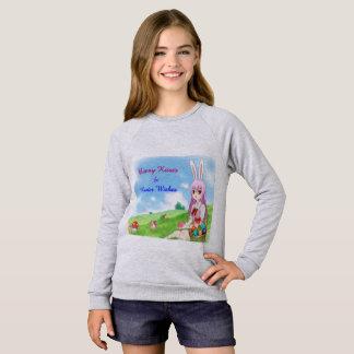 Bunny Kisses & Easter Wishes (Customizable) Sweatshirt
