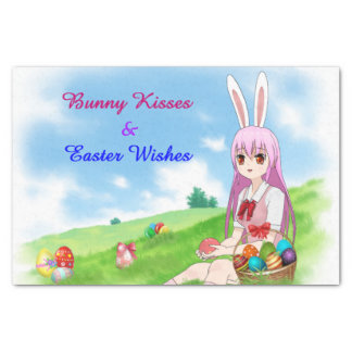 Bunny Kisses & Easter Wishes (Customizable) Tissue Paper