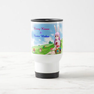 Bunny Kisses & Easter Wishes (Customizable) Travel Mug