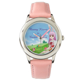 Bunny Kisses & Easter Wishes (Customizable) Watch