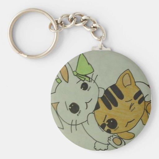 Bunny & Kitten Keychains