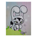 Bunny Kitty Butterfly Print