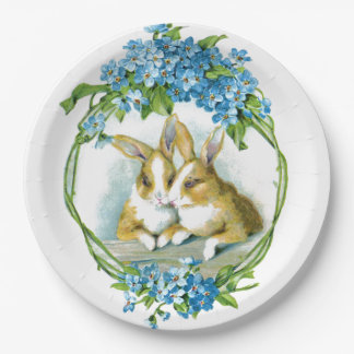 Bunny Love 9 Inch Paper Plate